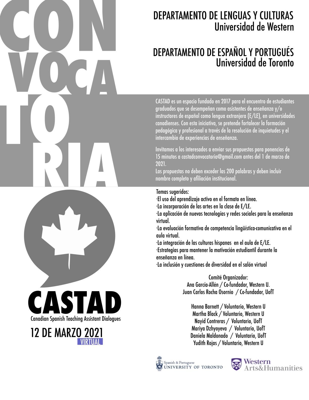 Convocatoria a CASTAD, 12 de marzo de 2021. Text reproduced in its entirety in the news article.