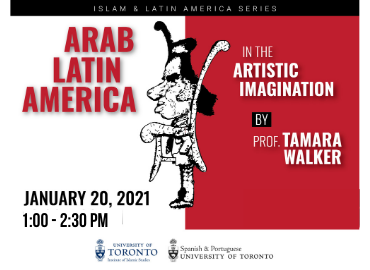 """Poster for """"Arab Latin America in the Artistic Imagination"""""""